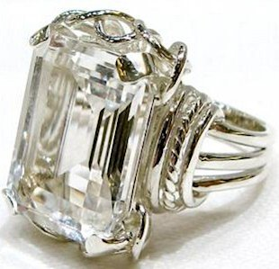 kira kira jewelry siler rock crystal ring