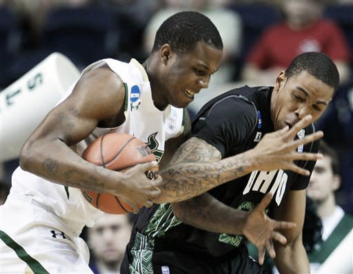 No. 13 seed Ohio beats USF 62-56 in NCAA tourney