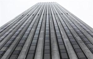 The General Motors building is seen in New York