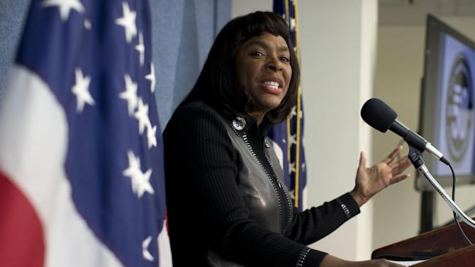 Rep. Terri Sewell, D-Ala., gestures as she speaks during a news conference at the National Press Club in Washington, Tuesday, Jan. 22, 2013, to announce plans to ask for the Congressional Gold Medal for the four little girls killed in the 1963 bombing at the 16th Street Church in Birmingham, Ala.  (AP Photo/ Evan Vucci)