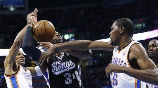 Thunder win 10th straight, 113-103 over Sacramento