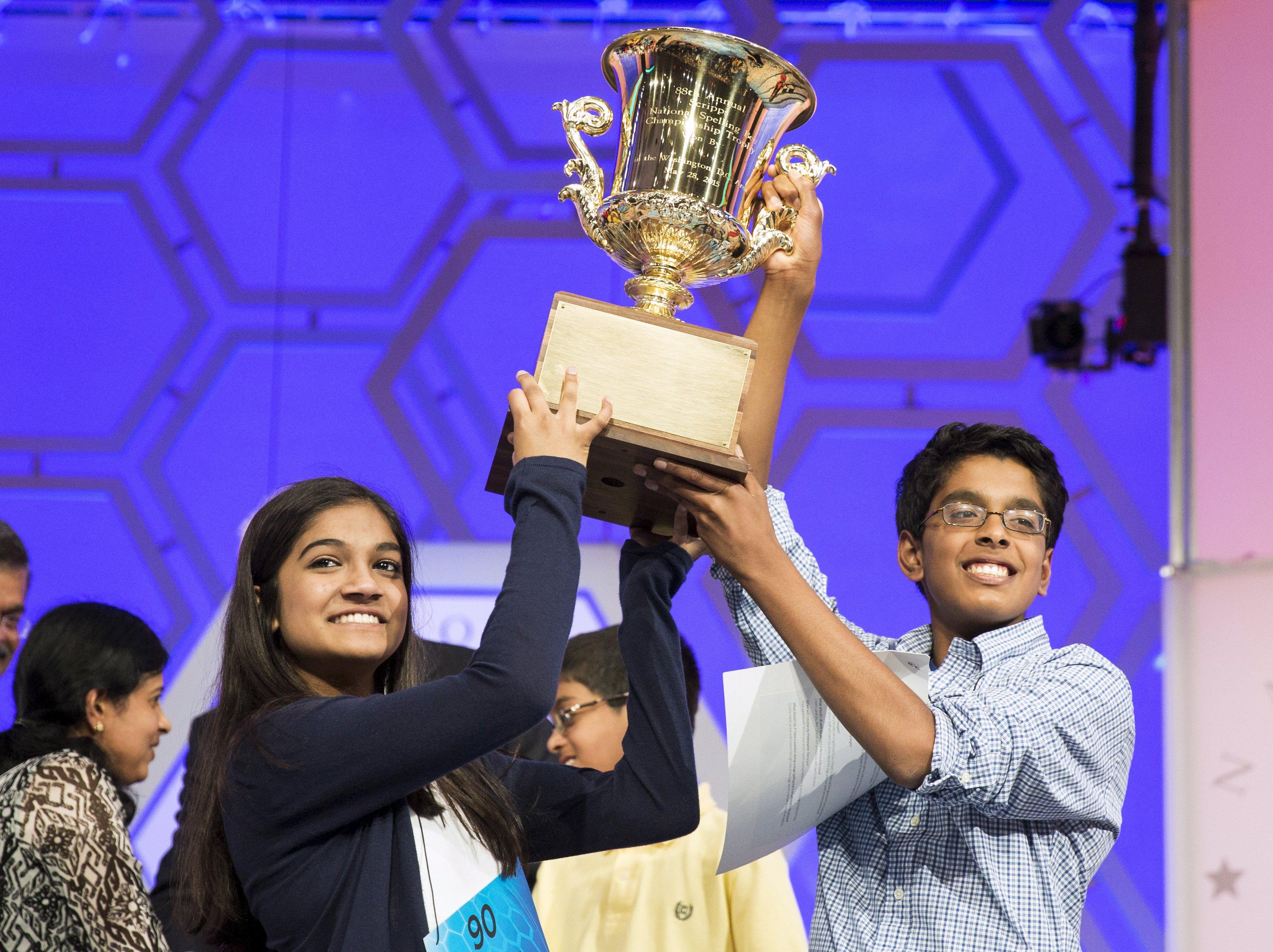 Spelling Bee champs battle to a tie