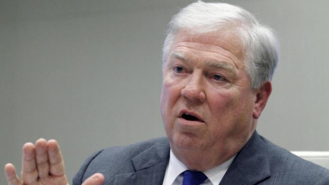 """FILE - This Jan. 13, 2012, file photo shows former Mississippi Gov. Haley Barbour during an interview in Ridgeland, Miss. Asked about the political evolution of the southern states Barbour, a Republican, former national party chairman and two-term governor, said the demographics are important but can be overemphasized. He acknowledged GOP concerns that Hispanics will vote Obama in proportions Romney cannot overcome """"if the election for them is only about immigration"""". But, he added, """"Never mind that their unemployment is so much higher than the national average. ... If the election for them is about the economy, we can do well.""""  (AP Photo/Rogelio V. Solis, File)"""