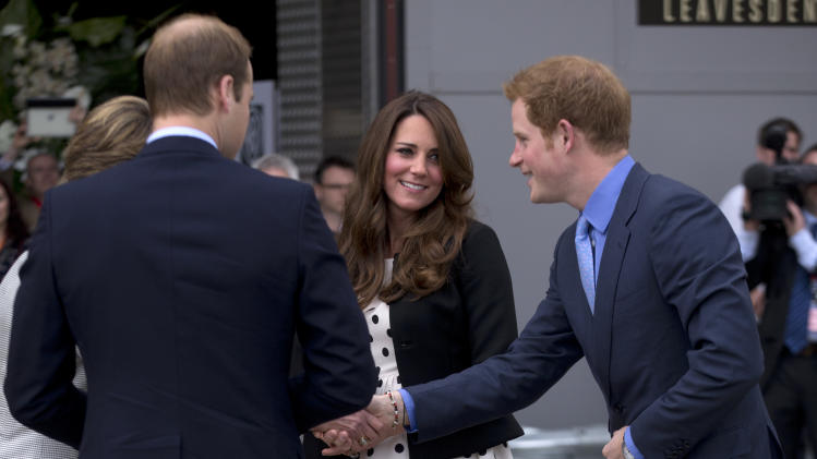 Royals William, Kate and Harry have magic day out