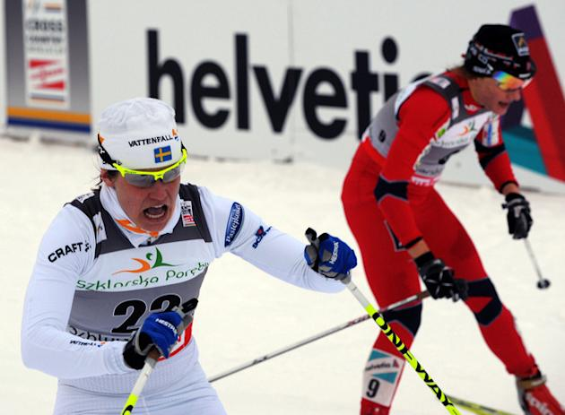 Ida Ingemarsdotter (L) Of Sweden Competes AFP/Getty Images