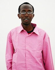 Somali journalist Abdiaziz Abdinuur is pictured in court in Mogadishu on February 5, 2013. He was jailed for one year for interviewing a woman who claimed she had been raped