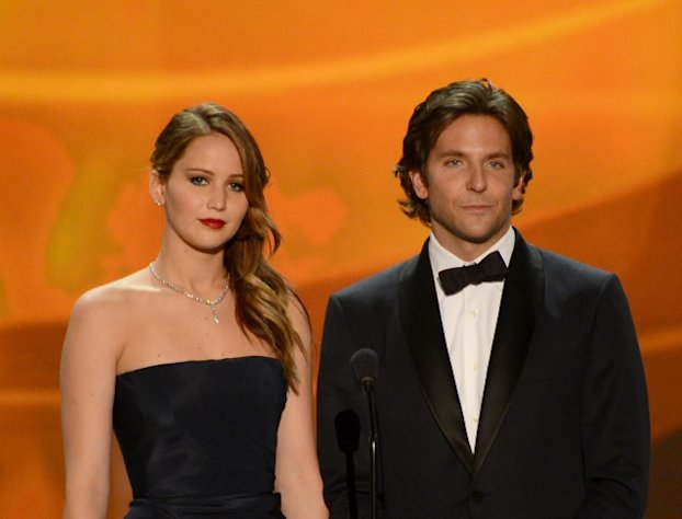 Jennifer Lawrence and Bradley Cooper onstage during the 19th Annual Screen Actors Guild Awards held at The Shrine Auditorium on January 27, 2013 (Photo by Getty Images)  -- Getty Images