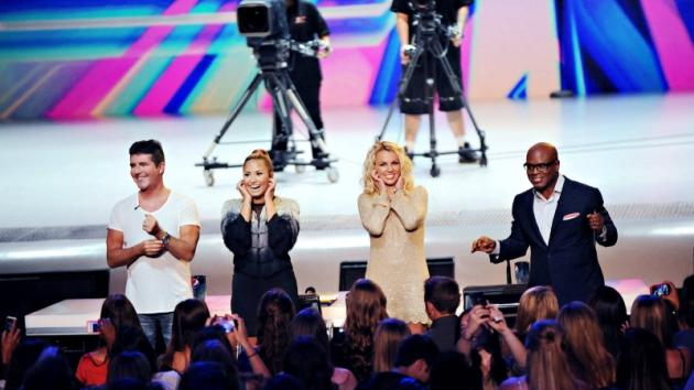 The judges of 'The X Factor' Season 2: Simon Cowell, Demi Lovato, Britney Spears and L.A. Reid -- FOX