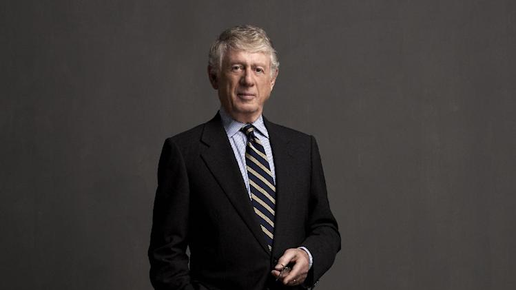"This undated image released by NBC shows newsman Ted Koppel in New York. Koppel, who has a report on juvenile justice on Friday's ""Rock Center,"" says NBC hasn't done the newsmagazine any favors by bouncing it around the schedule.  (AP Photo/NBC, Art Streiber)"