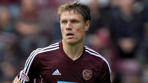 Hearts boss Gary Locke expects Marius Zaliukas, pictured, to leave the club