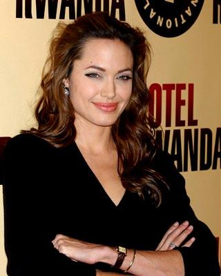 Angelina Jolie at the Beverly Hills premiere of United Artists' Hotel Rwanda