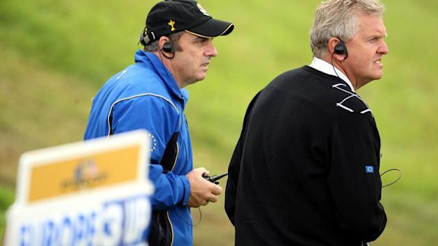 Paul McGinley, left, was vice captain to Colin Montgomerie, right, at the 2010 Ryder Cup