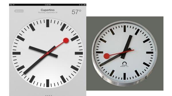Swiss Federal Railways Says Apple Stole Its Clock