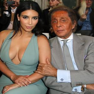 Kim Kardashian Hits Up Valentino Show in Paris
