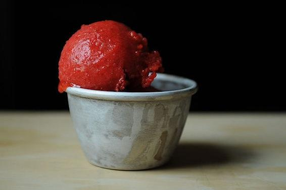 The River Cafe's Strawberry Sorbet