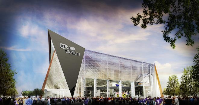 Field of Play: A Viking Ship in Minneapolis? No, It's Just the U.S. Bank Stadium