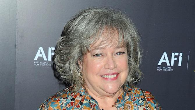 """FILE - In this Jan. 27, 2012 file photo, actress Kathy Bates arrives at the Australian Academy of Cinema and Television Arts Awards at the Soho House, in Los Angeles. The third season of """"American Horror Story"""" will be subtitled """"Coven,"""" and add Bates to the series' ensemble, according to the TV anthology's co-creator, Ryan Murphy. (AP Photo/Katy Winn, File)"""