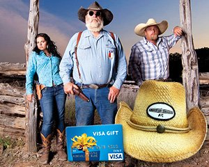 american hoggers cowboy hat and $ 50 visa filed under american hoggers