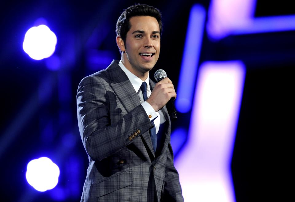Zachary Levi is seen onstage at Spike TV's Video Game Awards on Saturday, Dec. 10, 2011, in Culver City, Calif. (AP Photo/Chris Pizzello)