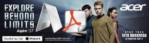 """Acer and Paramount Pictures Unite to Promote Acer Mobile Products and New """"Star Trek Into Darkness"""" Movie"""