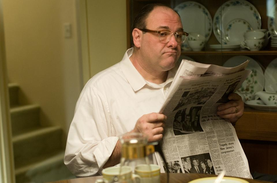 "In this film image released by Paramount Vantage shows James Gandolfini, as Pat, in a scene from ""Not Fade Away."" (AP Photo/Paramount Vantage)"