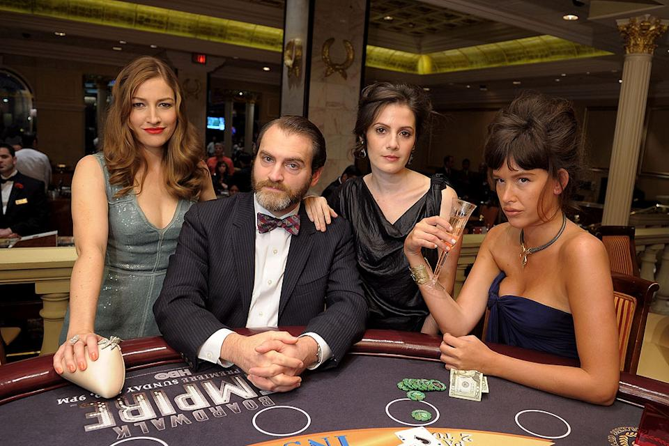 "Kelly Macdonald, Michael Stuhlbarg, Aleksa Palladino, and Paz de la Huerta attend HBO's ""Boardwalk Empire"" Series Premiere party in AC at Caesars Atlantic City on September 16, 2010, in Atlantic City, New Jersey."
