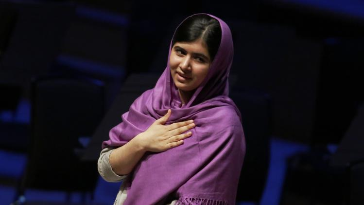 Malala Yousafzai speaks during the Women of the World Festival in London