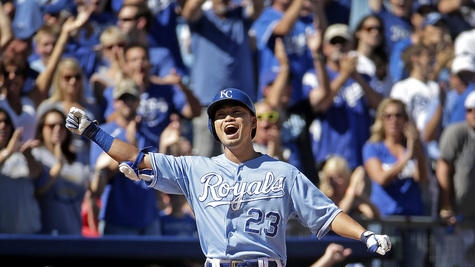 Aoki, Guthrie, Royals avoid sweep, beat Tigers