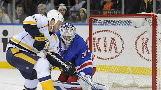 Unlikely scorer Clune leads Predators over Rangers