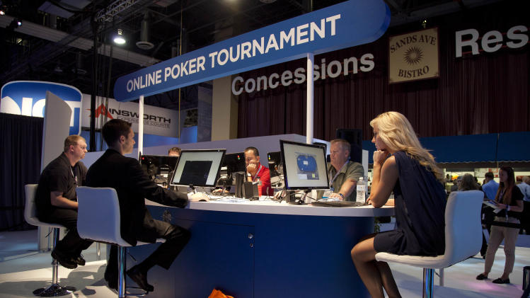 tournament during the G2E conference, Tuesday, Oct. 4, 2011, in Las