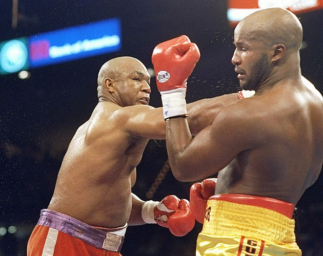 3. George Foreman KO10 Michael Moorer, Nov. 5, 1994 &amp;ndash; Foreman was 45 years old and trying to regain the heavyweight title. He was being badly outboxed by Moorer throughout the first nine rounds,