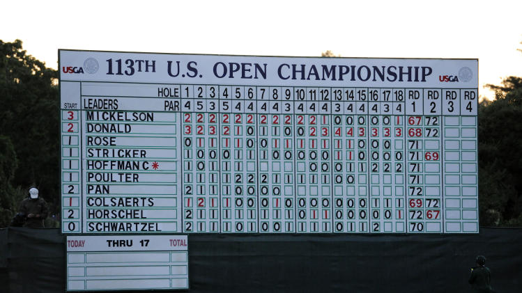 Golf: U.S. Open-Second Round