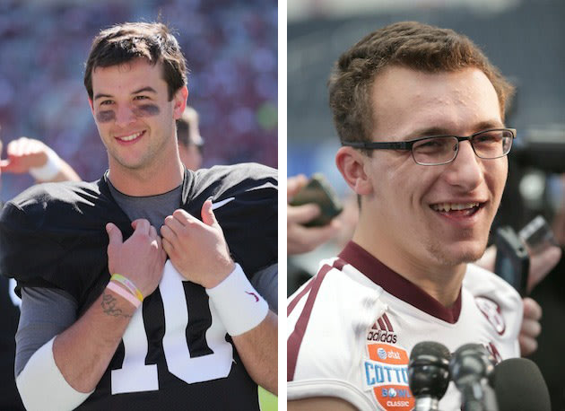 Get your cameras ready, AJ McCarron and Johnny Manziel are going ...