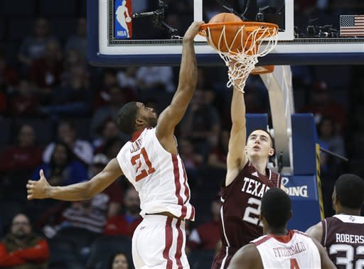 Oklahoma beats ex-Big 12 rival Texas A&M 64-54