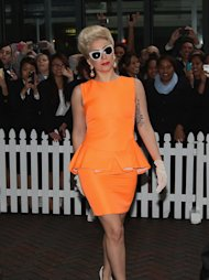 AUCKLAND, NEW ZEALAND - JUNE 05:  American singer Lady Gaga, arrives at the Stamford Plaza on June 5, 2012 in Auckland, New Zealand.  (Photo by Sandra Mu/Getty Images)