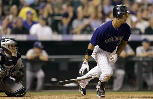 Gonzalez has 4 hits as Rockies beat Brewers 8-6
