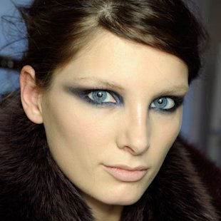 Gianfranco Ferre: Backstage: A/W12: Kohl Eyes: Beauty Trend