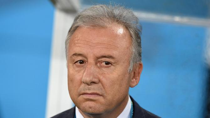 Japan's Italian coach Alberto Zaccheroni is pictured before a Group C match between Japan and Greece at the Dunas Arena in Natal during the 2014 FIFA World Cup on June 19, 2014