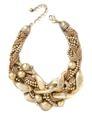 Kenneth Jay Lane gold necklace