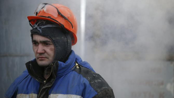 An employee works at a drilling site owned by Targin company in Bashkortostan