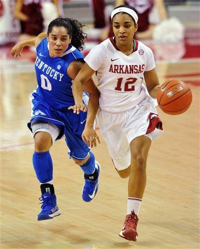 No. 10 Kentucky women hold off Arkansas 80-74