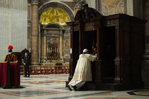 In Another Groundbreaking Act, Pope Francis Confesses His Sins in Public