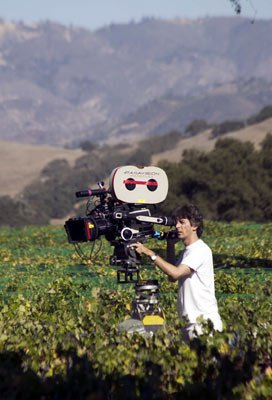 Director Alexander Payne on location in California wine country filming Fox Searchlight's Sideways