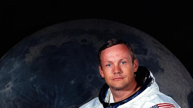 In undated photo provided by NASA shows Neil Armstrong.  The family of Neil Armstrong, the first man to walk on the moon, says he has died at age 82. A statement from the family says he died following complications resulting from cardiovascular procedures. It doesn't say where he died. Armstrong commanded the Apollo 11 spacecraft that landed on the moon July 20, 1969. He radioed back to Earth the historic news of