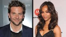 Bradley Cooper, Zoe Saldana -- Getty Images