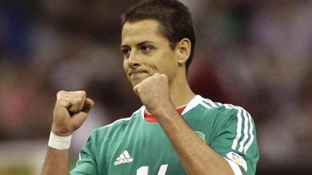 Mexico&#39;s striker Javier Hernandez after his team&#39;s victory against Costa Rica during 2014 World Cup qualifying (Reuters)