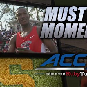 Syracuse Runner Knight Wins Gold With One Shoe | ACC Must See Moment