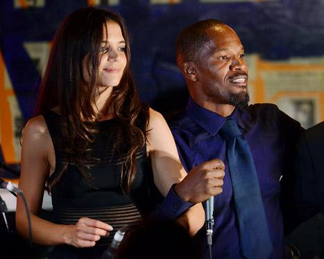 "Katie Holmes, Jamie Foxx Dance to ""Blurred Lines"" at Hamptons Event"