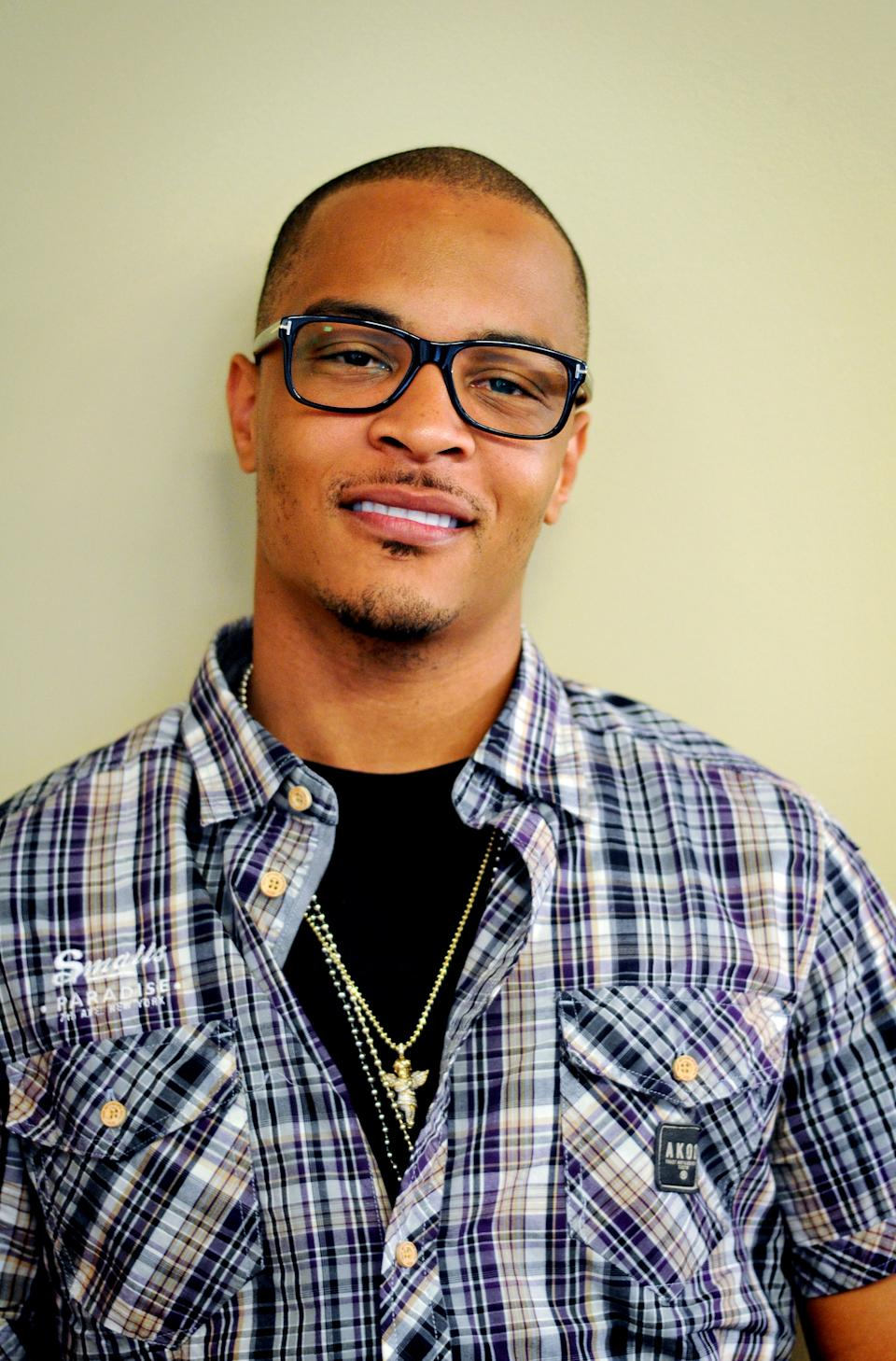 In this Sept. 10, 2012 photo, rapper T.I. is photographed following an interview in Atlanta. Even though T.I. has not produced any major hits lately, the Grammy-winning rapper believes he can still sell a considerable amount of albums based on his stellar track record. (AP Photo/Kat Goduco)