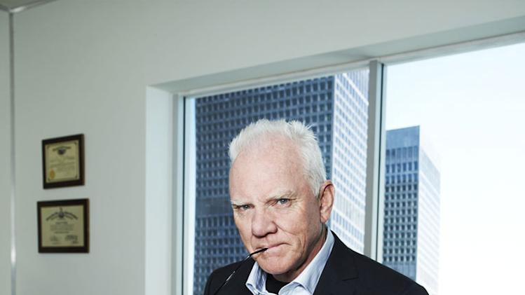 "Malcolm McDowell stars as Stanton Infeld in ""Franklin & Bash."""